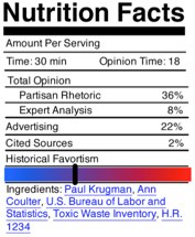 A nutritional label for media consumption