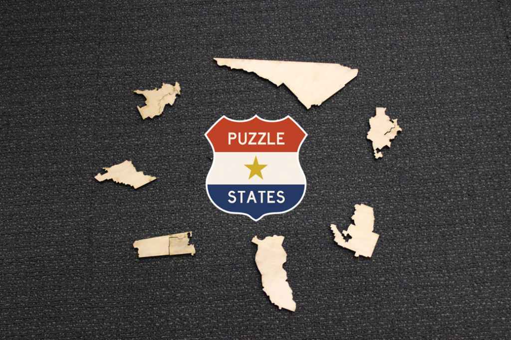 Puzzle States gerrymandered jigsaws